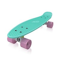 Skatro - Mini Cruiser Skateboard. 22x6inch Retro Style Plastic board Comes Complete. Model: Mint Bliss