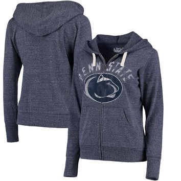Penn State Nittany Lions Touch by Alyssa Milano Women's Training Camp Full-Zip Hoodie - Heathered Navy