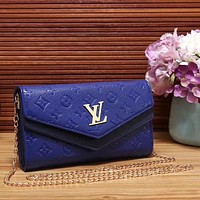 Louis Vuitton Women Fashion Leather Chain Satchel Shoulder Bag Crossbody