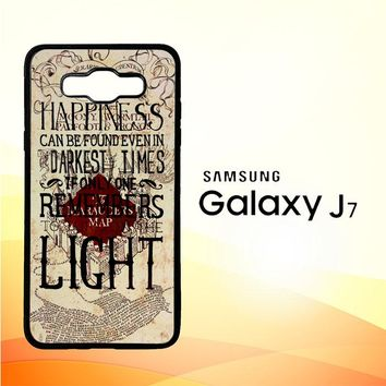 Harry Potter Marauders Map Happines L1431 Samsung Galaxy J7 Edition 2015 SM-J700 Case