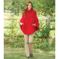 The Hawick Cashmere Hooded Poncho - Hammacher Schlemmer