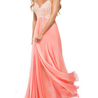 Floral Lace Prom Dress by Flirt