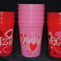 Personalized/Custom Valentine's Day Favor Cups - Perfect for school kids valentine's goodies!