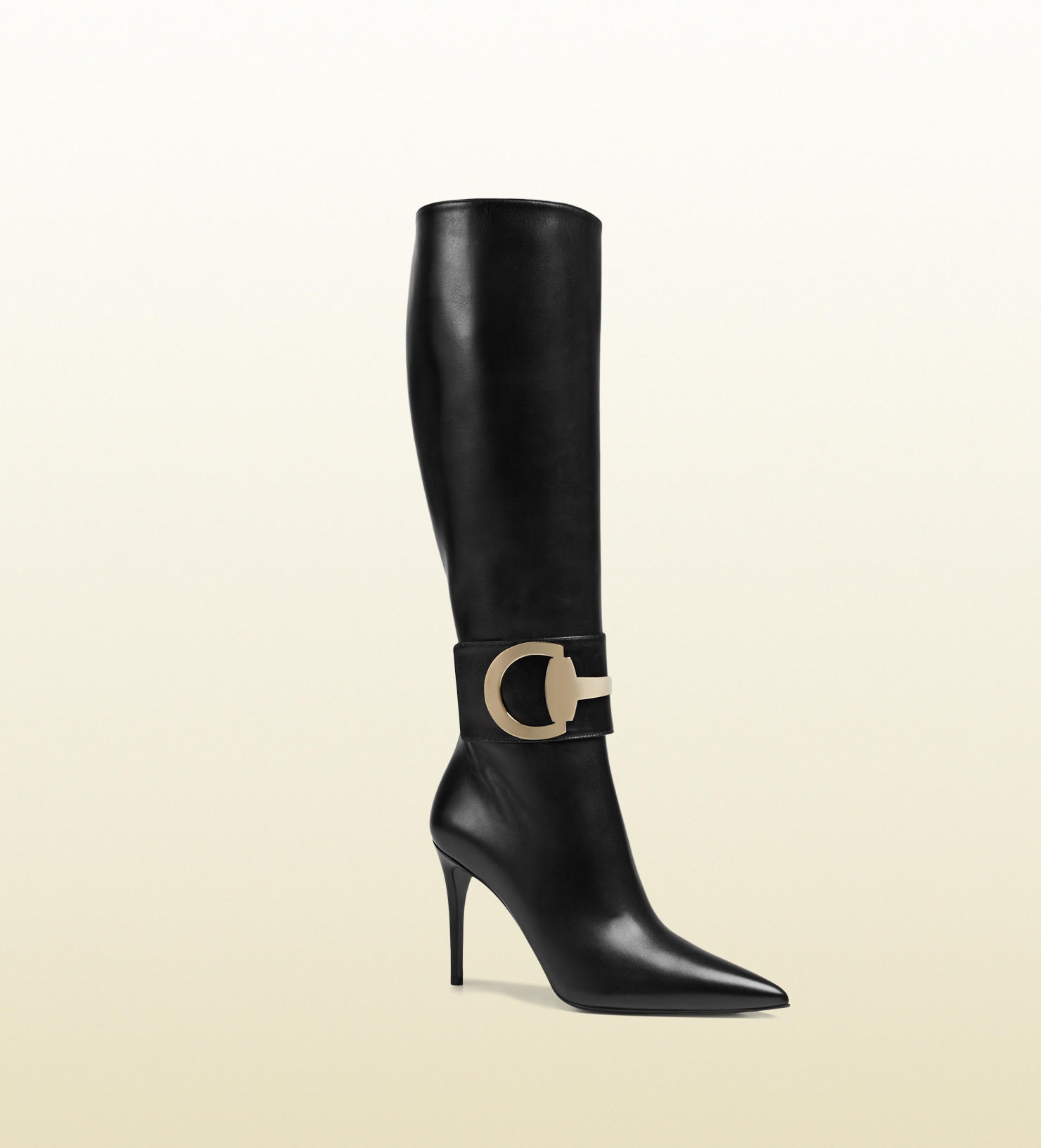 Gucci - rooney leather knee boot from GUCCI  622818e44