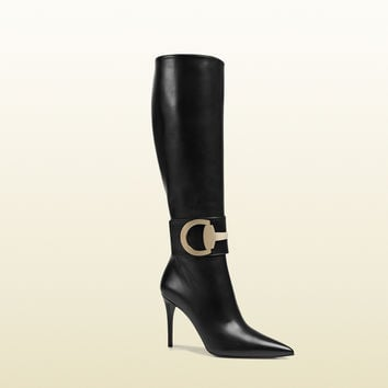 Gucci - rooney leather knee boot 388363C9D001000
