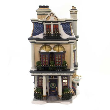 Department 56 House TEAMAN & CRUPP CHINA SHOP Porcelain Dickens Retired 58314