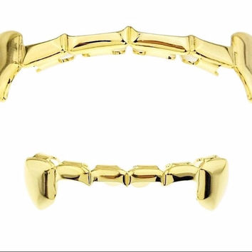 Gold Vampire Grillz Set