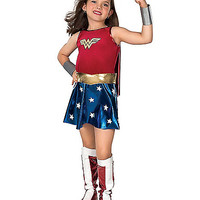 Kids Wonder Woman Costume Deluxe - DC Comics - Spirithalloween.com