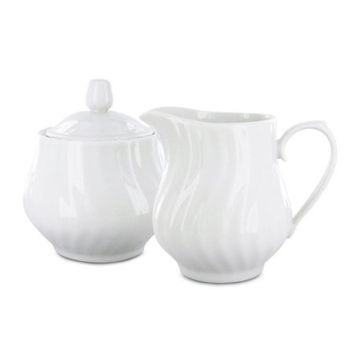 Imperial White Porcelain Sugar & Creamer Set
