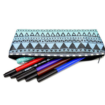 Pen holder // Pencil case // Pencil holder // Pen case // Artist brush holder // Zipper pouch // Printed pouch // Pencil pouch gift for him
