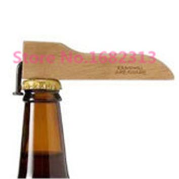 Wooden Environmental Magnetic Beer Bottle Opener FREE SHIPPING