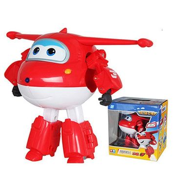 Airplane Robot Action Figures Super Wing