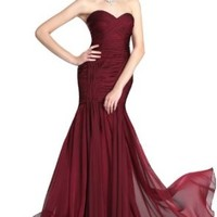 eDressit On-Sale Burgundy Strapless Evening Dress Prom Gown (00124717)