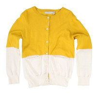 Stella McCartney Lauren Girls Colorblock Cardigan - 332166 - Yellow - FINAL SALE