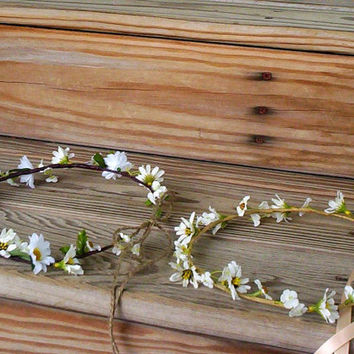 Country Bride Headwreath Daisy Flower crown 2013 by AmoreBride