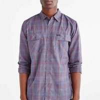 Brixton Memphis Long-Sleeve Button-Down Shirt- Blue