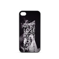 Sleeping With Sirens Song iPhone 4 / 4s Case