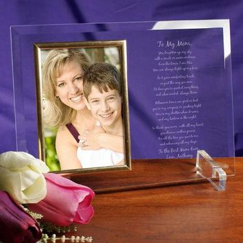 Free Engraving Personalized Glass Frame Gift Write Your Own Words and Poem