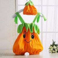 2016 Halloween Baby Romper Pumpkin Persimmon Modeling Cute Baby Costume Sleeveless Newborn Baby Boy Girl Jumpsuit Baby Clothes