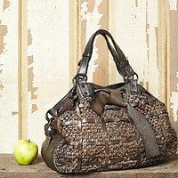 Free People Womens Angelili Woven Tote
