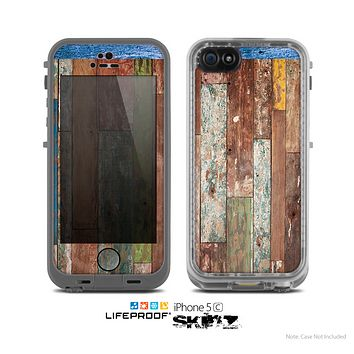 The Raw Vintage Wood Panels Skin for the Apple iPhone 5c LifeProof Case
