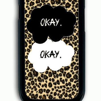 Samsung Galaxy S3 Case - Rubber (TPU) Cover with The Fault in Our Stars Ok Ok on Leopard Rubber Case Design