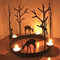 Christmas Reindeer Ring Tealight Holder from the london garden design company | Made By | £39.00 | Bouf