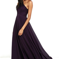 Everlasting Enchantment Purple Maxi Dress