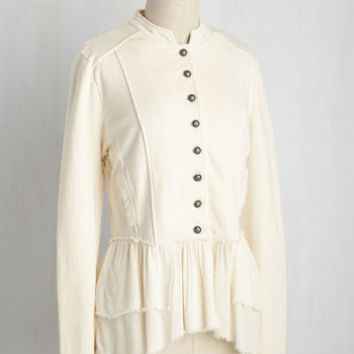 Office-ticated Appeal Jacket in Ivory | Mod Retro Vintage Jackets | ModCloth.com