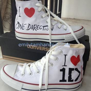 one direction converse custom converse sneakers 1d inspired 100 hand paint