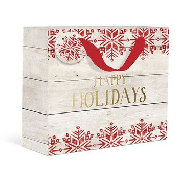 Rustic Holidays Large Gift Bag