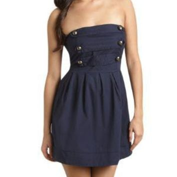 Military Tube Dress  - Teen Clothing by Wet Seal