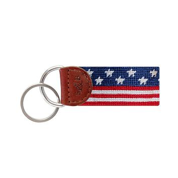 Old Glory Key Fob in Red, White and Blue by Smathers & Branson