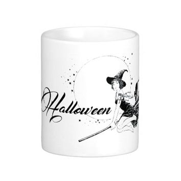 Halloween Witch Black&White Mug