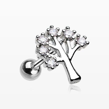 The Tree of Life Sparkle Cartilage Tragus Earring