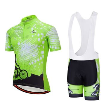 Maillot Ciclismo Mountain Bibs Set Reflective Men's Cycling Jersey & Spandex Cycling Bib Shorts Kit Spexcel Boy's Bike Set