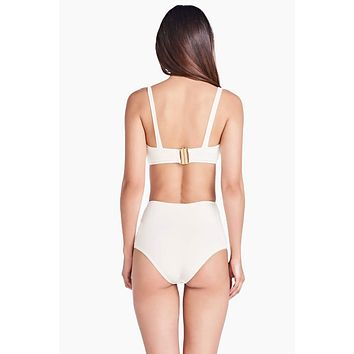 Hot Pant High Waist Bikini Bottom - Off White