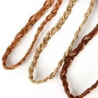 Three Single Braided Headbands