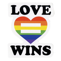 Love Wins Heart Sticker