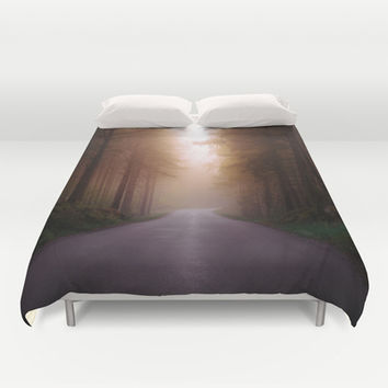 Where are you Duvet Cover by HappyMelvin