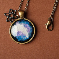 Galaxy Necklace in Antique Bronze