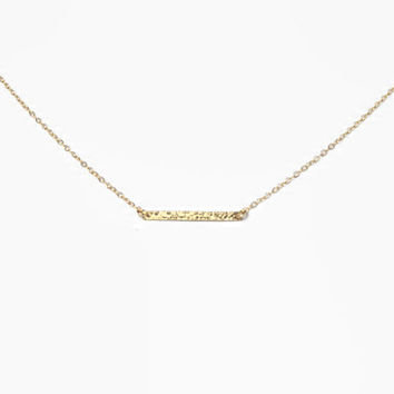 Textured Gold Bar Necklace, Everyday, Delicate, Dainty, Layering Necklace, 25mm Bar Necklace, Sideways, Small, Bridesmaid Gift, Gold Filled