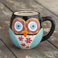 Black  Owl  Mug  From  Natural  Life