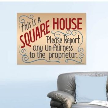 """This Is a Square House"" Sign Glossy Poster - Full-size 24""x18"" - As seen on ""Cheers"" - Ready to Frame"