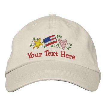 Country USA - Customize Embroidered Baseball Cap