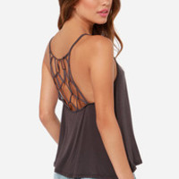 Net Amused Grey Tank Top