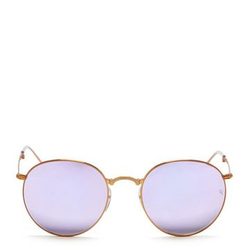 Ray Ban | 'round Metal Folding' Mirror Sunglasses | Women | Lane Crawford   Shop Designer Brands Online