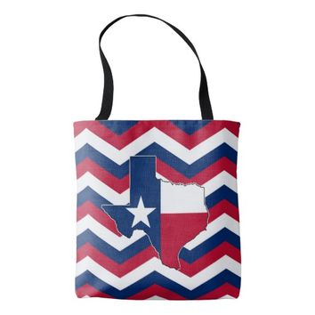 Red White & Blue State of Texas Bag for Texans