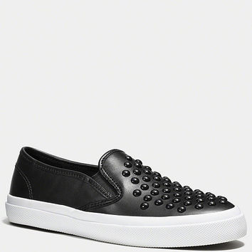 COACH CHRISSY RIVET SNEAKER | Dillards