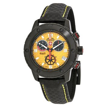 Swiss Military Rallye GMT Yellow Dial Mens Watch 27541
